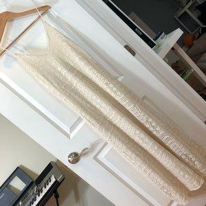 ASOS lace maxi dress white